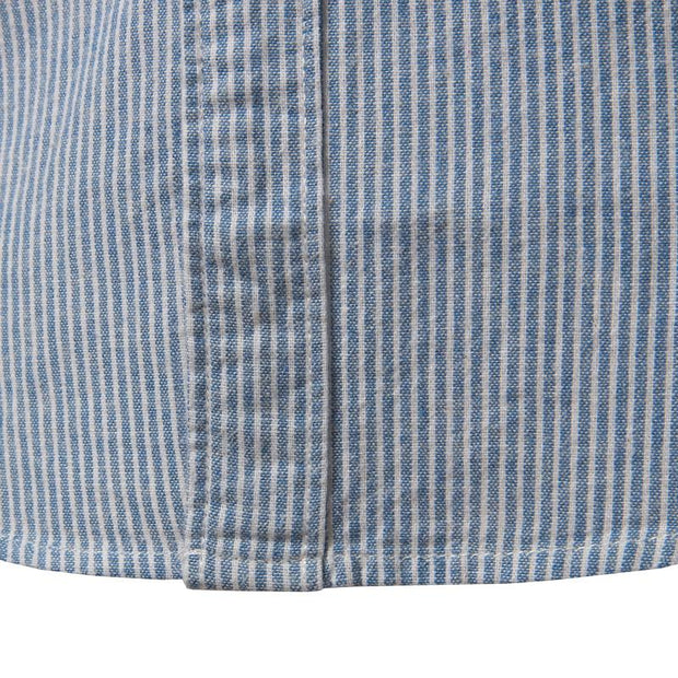 West Louis™  Cotton Casual Button Down Striped Shirt  - West Louis