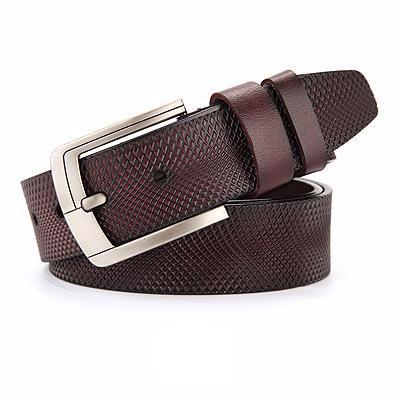 West Louis™ Fancy Vintage Leather Belt B brown / 95cm  less 27 Incn - West Louis