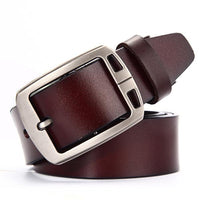 West Louis™ Fancy Vintage Leather Belt E brown / 100cm 27to29 Incn - West Louis