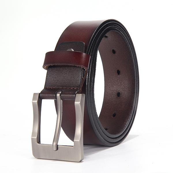West Louis™ Fancy Vintage Leather Belt D brown / 100cm 27to29 Incn - West Louis