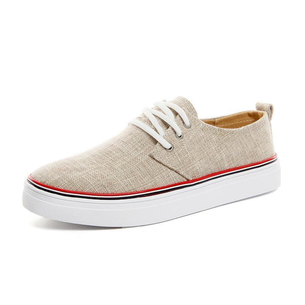 West Louis™ Canvas Linen Flats Casual Shoes  - West Louis