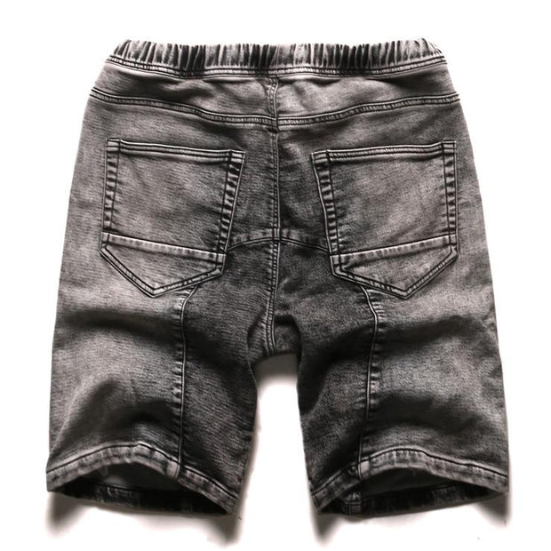 West Louis™ Gray Washed Denim Shorts  - West Louis