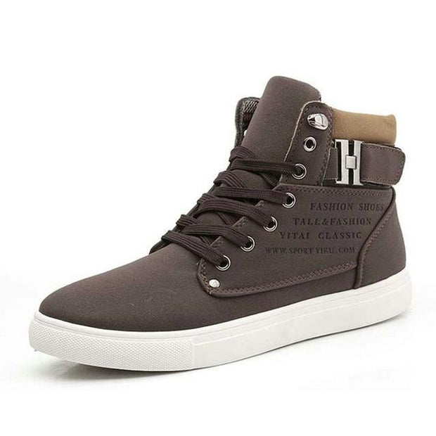 West Louis™ Hot High Top Fashion Warm Shoes Brown / 6.5 - West Louis