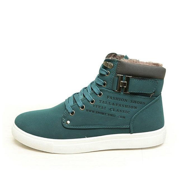 West Louis™ Hot High Top Fashion Warm Shoes GreenFur / 6.5 - West Louis