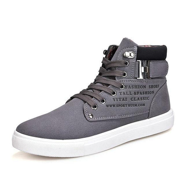 West Louis™ Hot High Top Fashion Warm Shoes Gray / 6.5 - West Louis