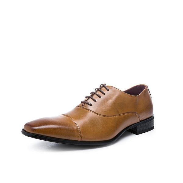 West Louis™  Luxury Genuine Leather Formal Oxfords  - West Louis