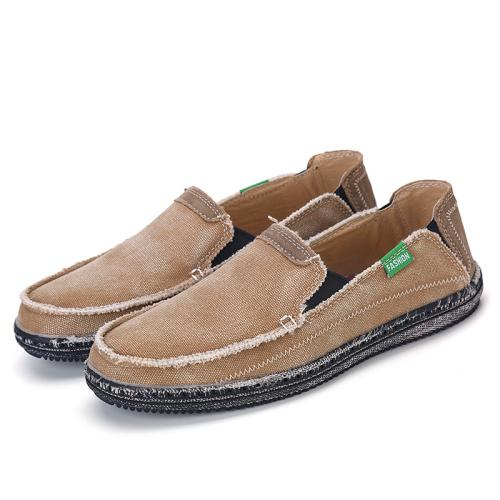 West Louis™ Men Summer Slip On Flats Loafers Brown / 6.5 - West Louis