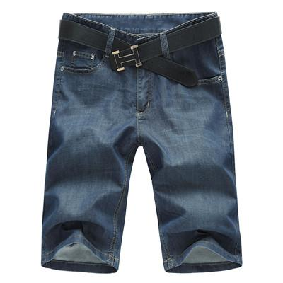 West Louis™ Knee Length Denim Shorts Denim Blue / 30 - West Louis
