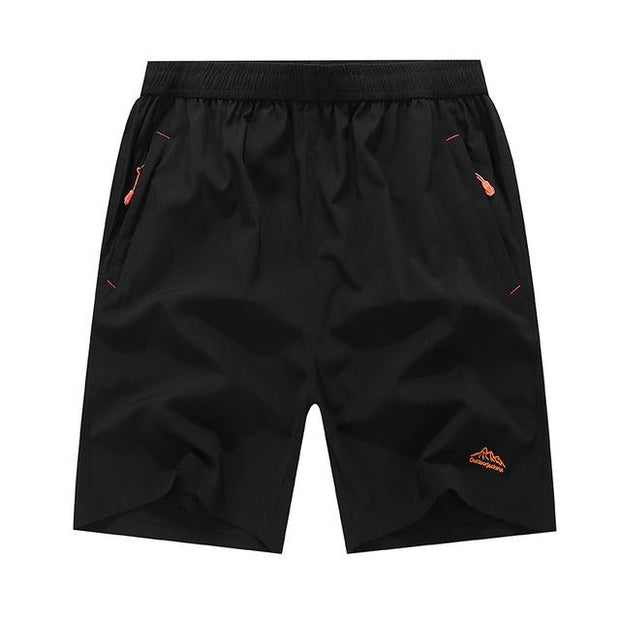 West Louis™ Summer Solid Leisure Quick-Drying Shorts Black / L - West Louis