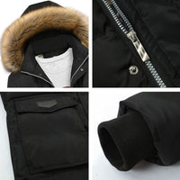 West Louis™ Winter Fur Jacket Bio Down Parkas  - West Louis