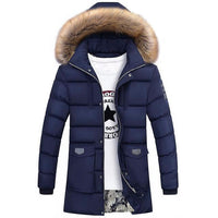 West Louis™ Winter Fur Jacket Bio Down Parkas Blue / XXL - West Louis