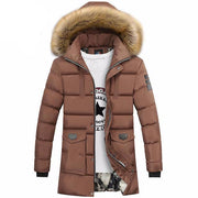 West Louis™ Winter Fur Jacket Bio Down Parkas Khaki / XXL - West Louis