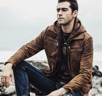 West Louis™ Retro Autumn Winter Genuine Leather Jacket  - West Louis