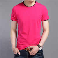 West Louis™ Summer O-Neck Short Sleeve T-Shirt Pink / S - West Louis