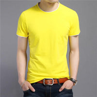West Louis™ Summer O-Neck Short Sleeve T-Shirt Yellow / S - West Louis