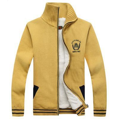 West Louis™ Winter Warm Thick Velvet Sweater Yellow / M - West Louis