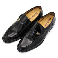 West Louis™ Black Patent PU Leather Pointed Shoes
