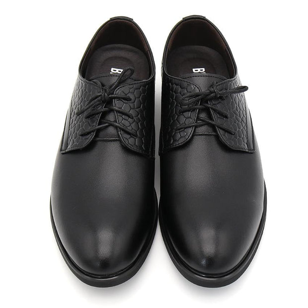 West Louis™ Black Men's Business Breathable Oxfords  - West Louis