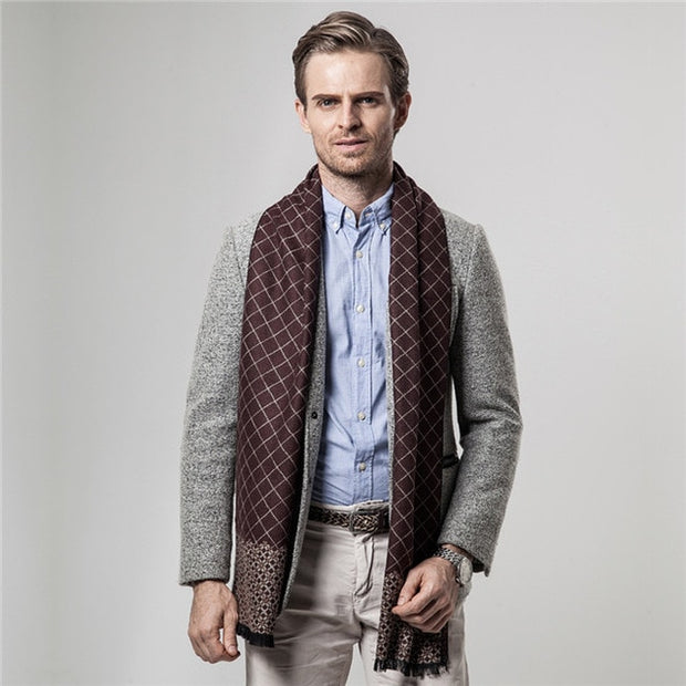 West Louis™ Brand Plaid Cashmere Scarf