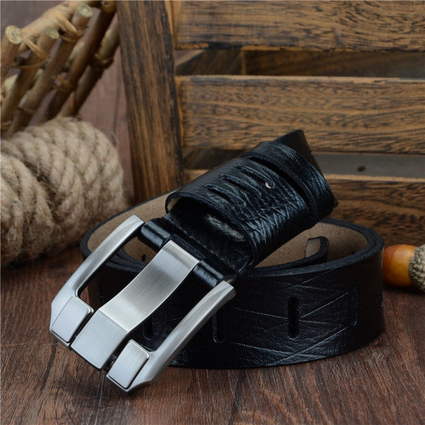 West Louis™ Cow Leather Pin Buckle Belt