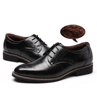 West Louis™ Brogues Lace-Up Bullock Shoes Black velvet / 11 - West Louis