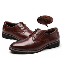 West Louis™ Brogues Lace-Up Bullock Shoes Brown velvet / 11 - West Louis