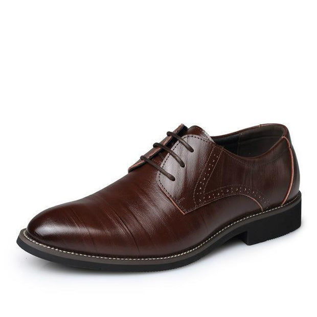West Louis™ Brogues Lace-Up Bullock Shoes Dark brown / 6.5 - West Louis