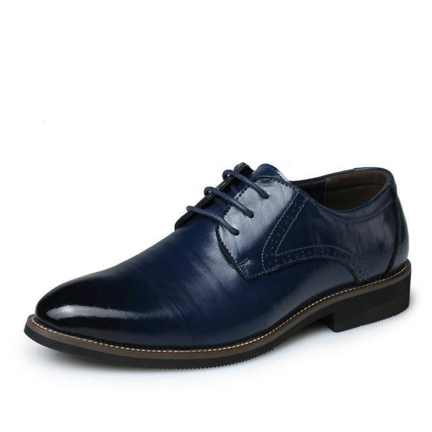 West Louis™ Brogues Lace-Up Bullock Shoes Navy blue / 6.5 - West Louis