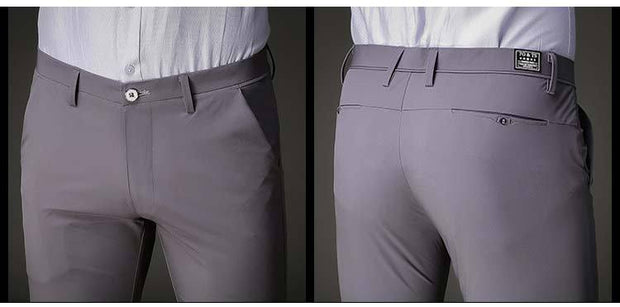 West Louis™ Slim Fit Stretch Trousers  - West Louis