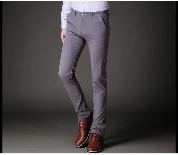 West Louis™ Slim Fit Stretch Trousers Gray / 34 - West Louis