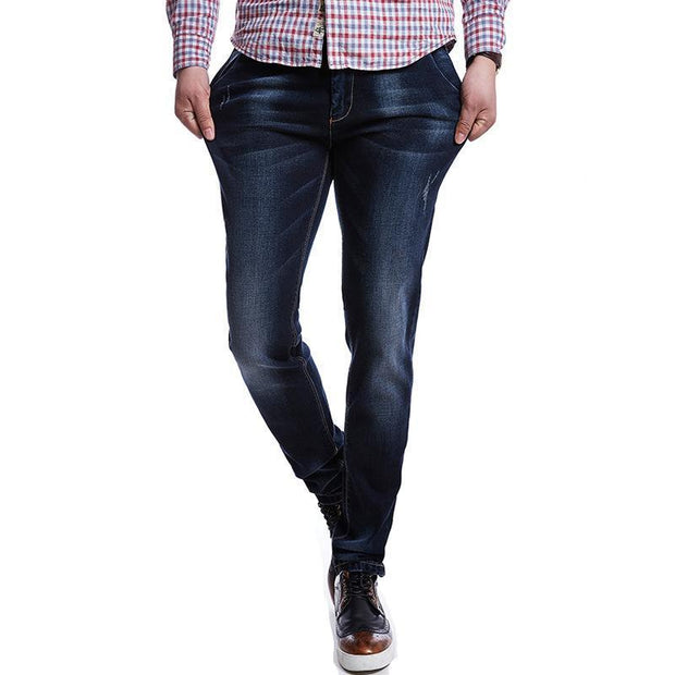 West Louis™ High Quality Stretch Denim Jeans  - West Louis