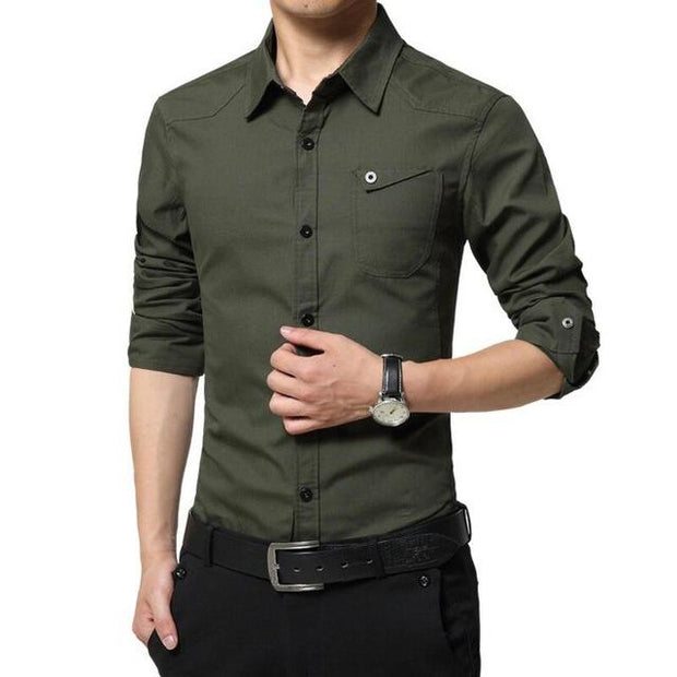 West Louis™ High Quality Summer Dress Shirt Green / M - West Louis