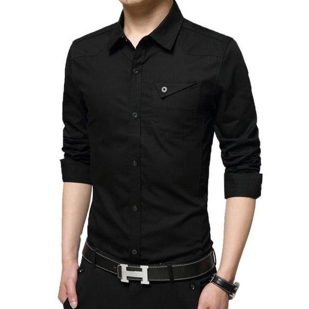 West Louis™ High Quality Summer Dress Shirt Black / M - West Louis