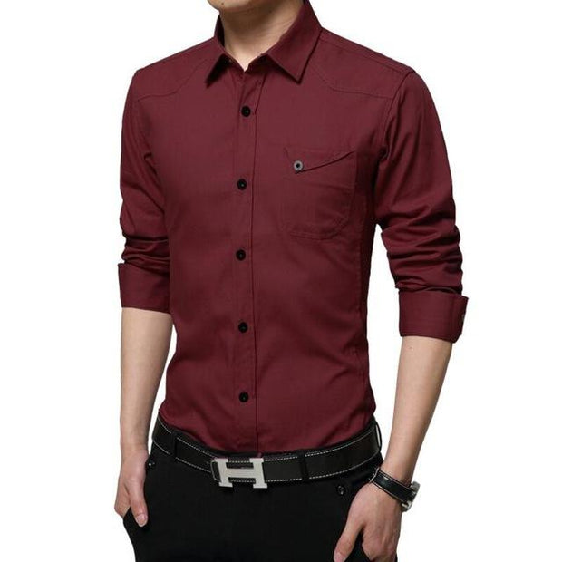West Louis™ High Quality Summer Dress Shirt Red / M - West Louis