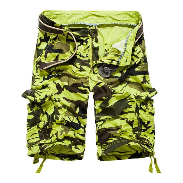 West Louis™ Camouflage Cotton Cargo Shorts Green / 34 - West Louis