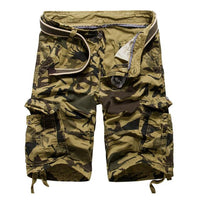 West Louis™ Camouflage Cotton Cargo Shorts Khaki / 34 - West Louis
