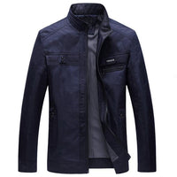 West Louis™ Designer Business-Man Spring Jacket Dark Blue / L - West Louis