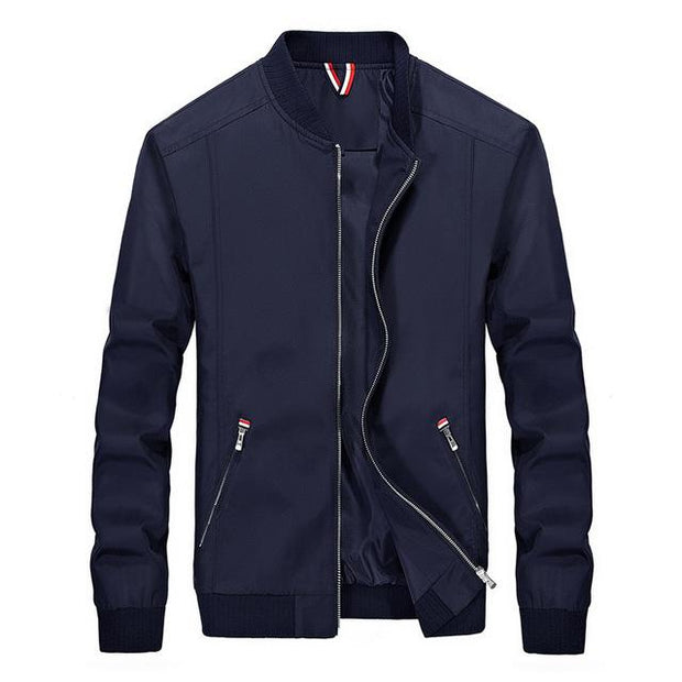 West Louis™ Slim Windbreaker Jackets Navy Blue / M - West Louis