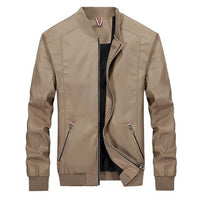 West Louis™ Slim Windbreaker Jackets Khaki / M - West Louis