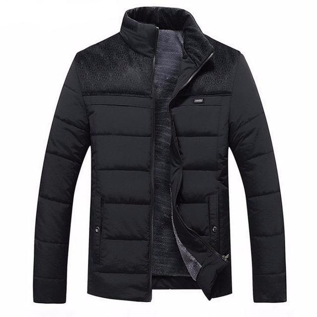 West Louis™ Winter Stand Collar Warm Jacket Black / M - West Louis