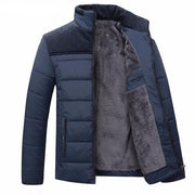 West Louis™ Winter Stand Collar Warm Jacket Blue / M - West Louis