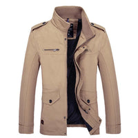 West Louis™  Warm Cotton-Padded Men Jacket Khaki / M - West Louis