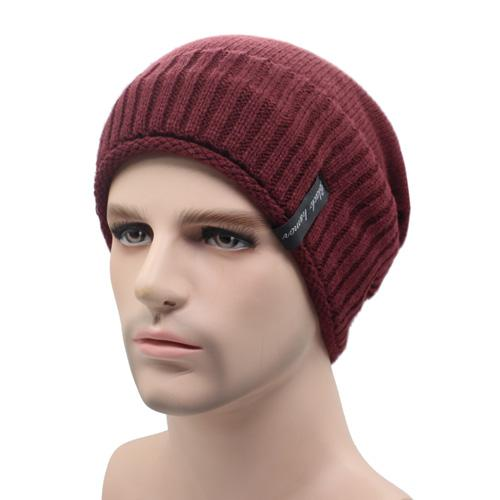 West Louis™ Knitted Winter Beanie wine red - West Louis