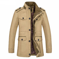 West Louis™ Men Jaqueta Coat Fashion Khaki / M - West Louis