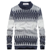 West Louis™ Winter Knitted Sweater Grey Blue / L - West Louis