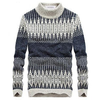 West Louis™ Winter Knitted Sweater Dark Blue / L - West Louis