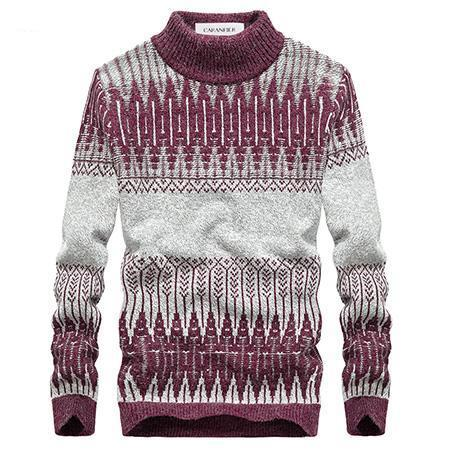 West Louis™ Winter Knitted Sweater Wine Red / L - West Louis