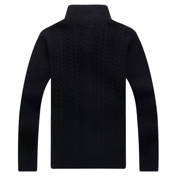 West Louis™ Autumn Whiter Knitwear Zipper Sweater  - West Louis