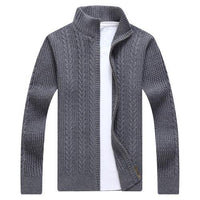 West Louis™ Autumn Whiter Knitwear Zipper Sweater Gray / M - West Louis