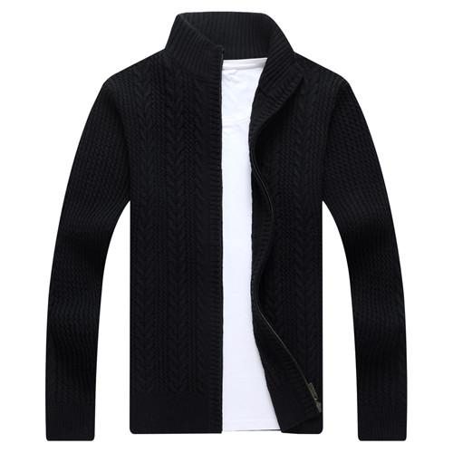 West Louis™ Autumn Whiter Knitwear Zipper Sweater Black / M - West Louis